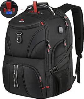 Gifts for Men, Unique Gifts for Travelers College Student Husband Boyfriend Son Dad, Large Travel Laptop Backpack with Weight Scale & USB Port Anti Theft Water Resistant TSA Fit Gaming Laptops, Black