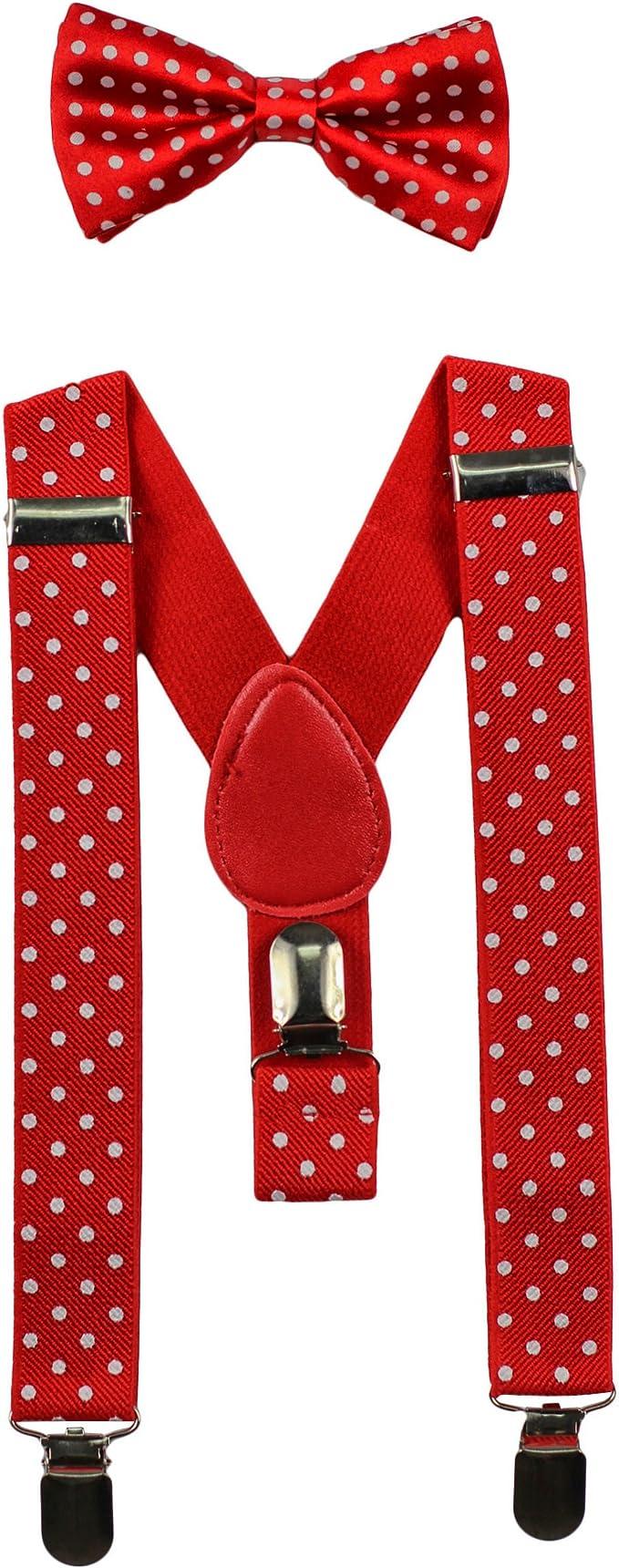 """Kids Boys Elastic Adjustable Made in US New 1"""" Tan Suspenders Baby Toddlers"""