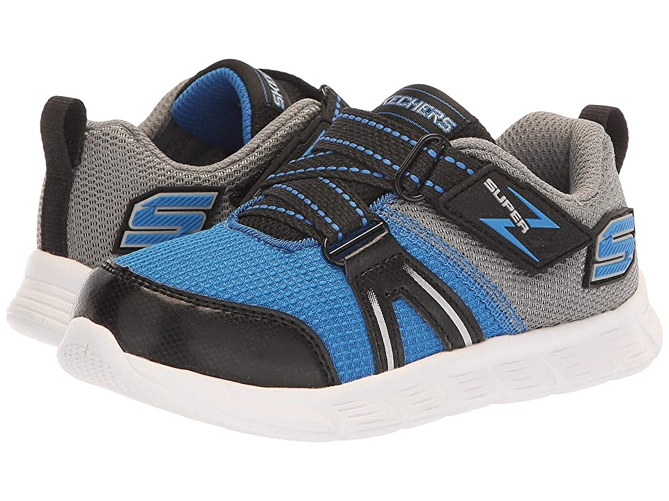 SKECHERS KIDS Comfy Flex Micro Leap (Toddler/Little Kid) (Blue/Grey) Boy