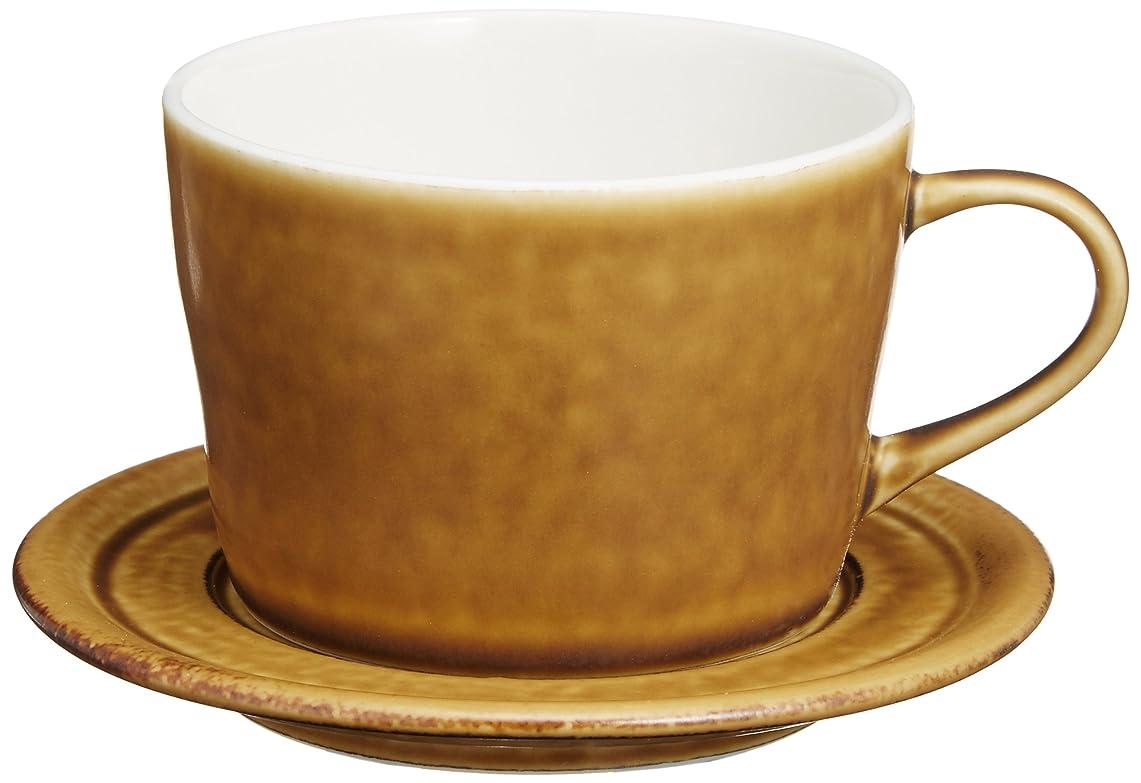 熱帯の致命的うがいやまに 深山(miyama.) bico-ビコ- コーヒーカップ&ソーサー カラメルブラウン 3515248