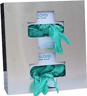 Omnimed 305336 Medical Cross Glove Box Holder, (2) Double, Stainless Steel