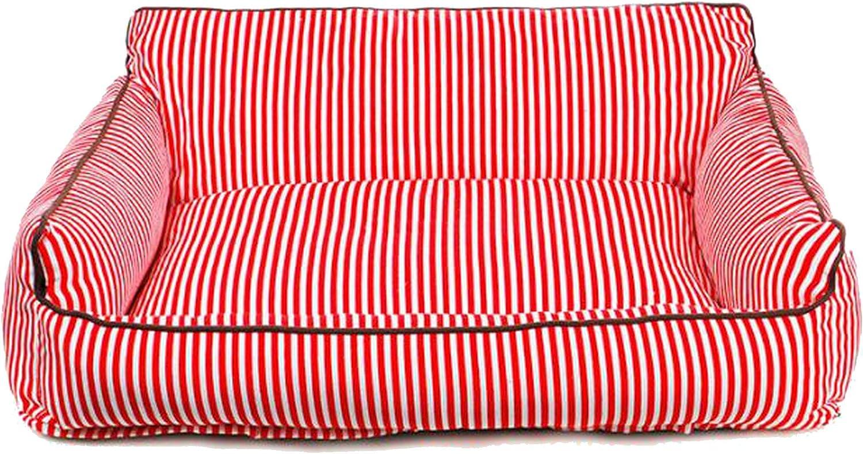 Big Pet Dog Bed Cat Bed Mat Sofa Dog House Nest Sleep Cushion Mat Fall Winter Warm Kennel,Red,S 44  34  23cm