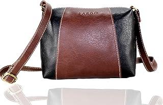 58c0e554ec2c Fargo Motley PU Leather Women's & Girl's Cross Body Side Sling Bag  (Brown,Black_FGO