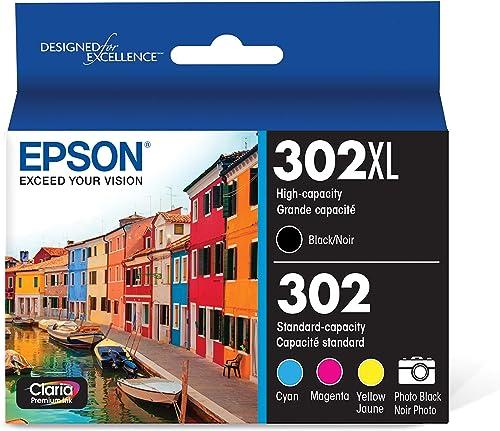 Epson T302XL-BCS Claria Premium Ink Cartridge Multi-pack - High-capacity Black and Standard-capacity Photo Black and ...