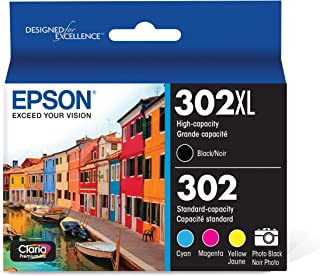 Best Epson T302XL-BCS Claria Premium Ink Cartridge Multi-pack - High-capacity Black and Standard-capacity Photo Black and Color (CMYPB) Review