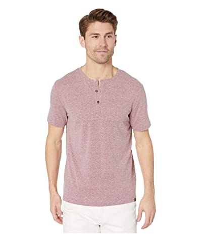 Threads 4 Thought Baseline Tri-Blend Short Sleeve Henley (Brick Red) Men