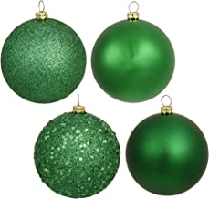 "Vickerman 3"" Green 4 Finish Ball Ornament 16 per Box"