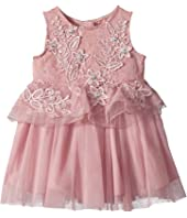 Lace and Tulle Dress with 3D Flowers (Infant)
