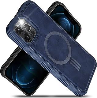 Migeec Funda de Cuero de la PU Compatible con el iPhone 12 Pro MAX 6.7 Pulgadas de Carga magnética Reforzada a Prueba de G...