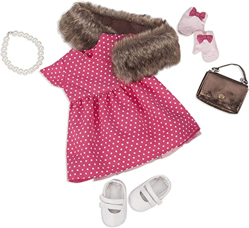 Our Generation Deluxe Retro Doll Outfit - Polka Dot Robe