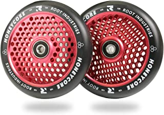 Scooter Wheels 120mm Honeycore - 120mm Scooter Wheels - Honeycomb Scooter Wheels - Pro Scooter Wheels - 24mm x 110mm - Bearings Installed - 90 Day Warranty - Scooter for Kids - Scooter Part…