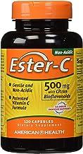 American Health Ester-C with Citrus Bioflavonoids Capsules - 24-Hour Immune Support, Gentle On Stomach, Non-Acidic Vitamin C - Non-GMO, Gluten-Free - 500 mg, 120 Count, 60 Servings