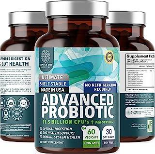 N1N Premium Probiotics for Men & Women [11.5 Billion CFUs] Lactobacillus Acidophilus Probiotic Supplement to Improve Diges...