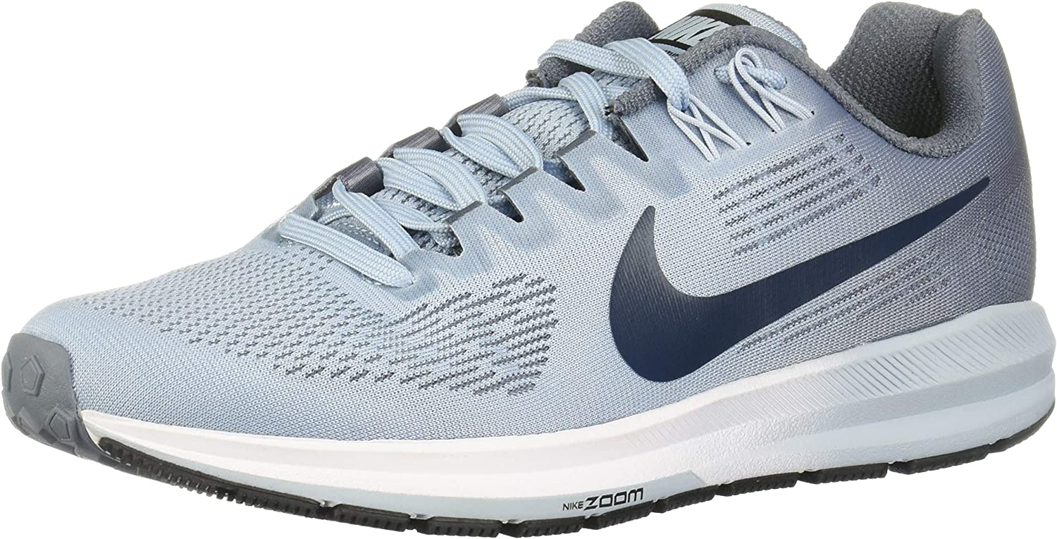 Nike Women's W AIR Zoom Structure 21, Black White-Wolf Grey