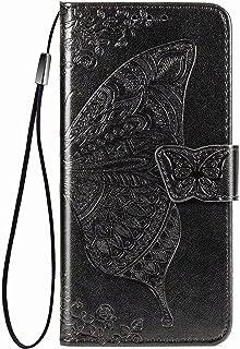 YukeTop Case for vivo V20 2021, PU Leather Flip Folio Wallet Cover, With Card Slots, Case Cover for vivo V20 2021.(Black)