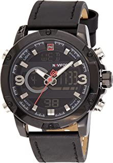 Naviforce Men's Black Dial NYLON Analogue Classic Watch - NF9097-BBB