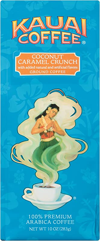 100 Kauai Ground Coffee Coconut Caramel Crunch 100 Premium Ground Arabica Coffee From Hawaii S Largest Coffee Grower Bold Rich Flavor With Tropical Notes And Sweet Caramel Overtones 10 Ounce