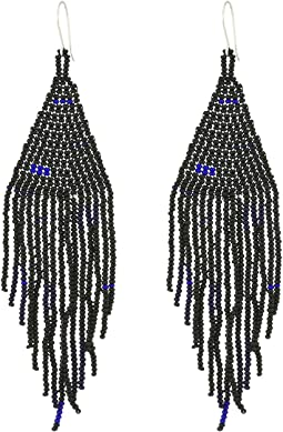 Chan Luu - Beaded Tassel Earrings with Glass Beads