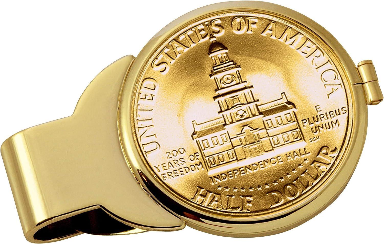 Gold-Layered JFK Bicentennial Boston Mall Half Clip Our shop OFFers the best service Dollar Money Goldtone