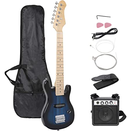 """Smartxchoices 30"""" Kids Electric Guitar with 5W Amplifier,Picks, Gig Bag, Strap, Cable & Accessory Kit"""