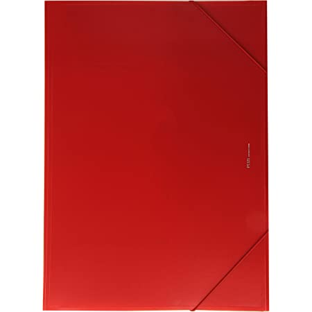 Plus Office B186-RD - Carpeta con solapas, A3, rojo