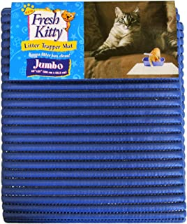 Fresh Kitty Soft Jumbo Foam Easy Clean Litter Trapping Mat for Pet Cat Litter Box, Blue