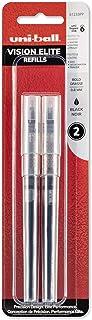 uni-ball Vision Elite Rollerball Pen Refills, Bold Point (0.8mm), Black, 2 Count