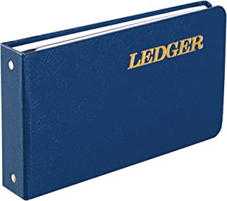 """Wilson Jones Ring Ledger Outfit, Bookkeeping System with Ring Binder, Ledger Sheets, and A-Z Indexes (W0203-58BLA), Blue, 1.5"""""""