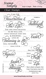 Stamp Simply Clear Stamps Easter Christian Religious 4x6 Sheet - 6 Pieces