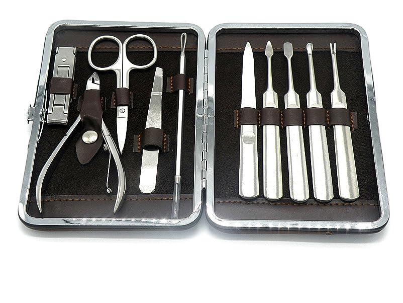 工場牧師高級爪きり美容道具、ステンレス日本式品質、10件セット