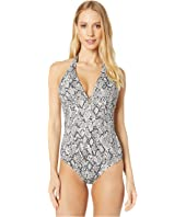 Heidi Klein - Mozambique Button Halter One-Piece