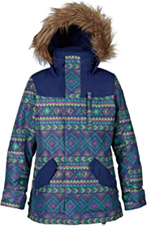 everest puffer jacket with faux fur trim
