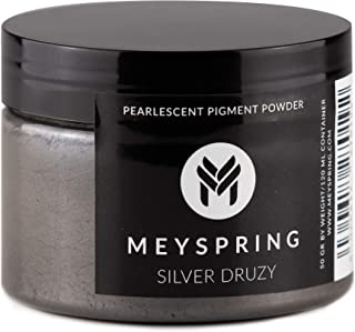 MEYSPRING Silver Druzy Epoxy Resin Color Pigment - 50g - Mica Powder for Epoxy