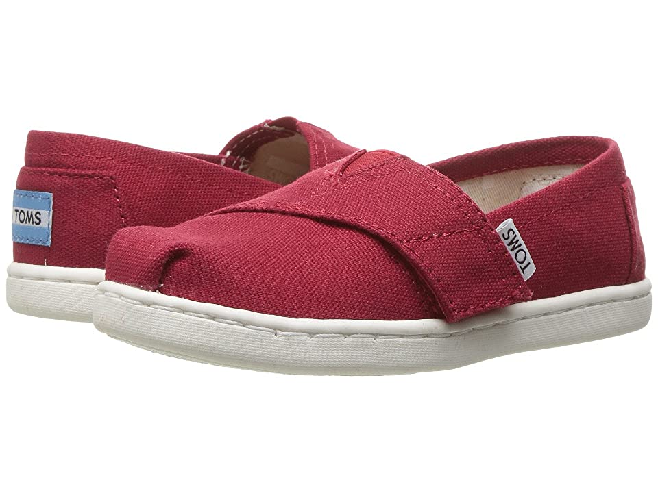TOMS Kids Alpargata 2.0 (Infant/Toddler/Little Kid) (Red Canvas) Kid
