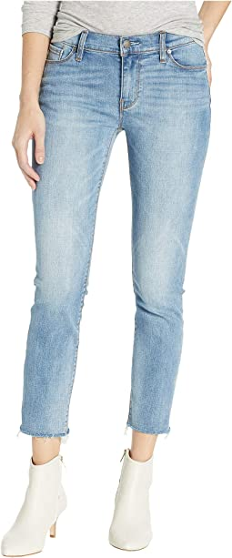 Tally Mid-Rise Skinny Crop in Radical (Raw Hem)