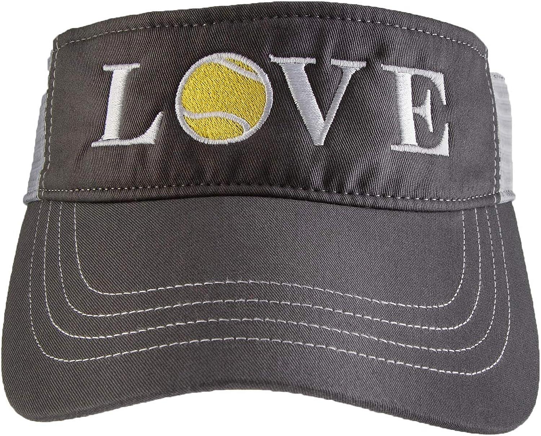 Tennis Addiction - Love Tennis Trucker Visor Gray/White