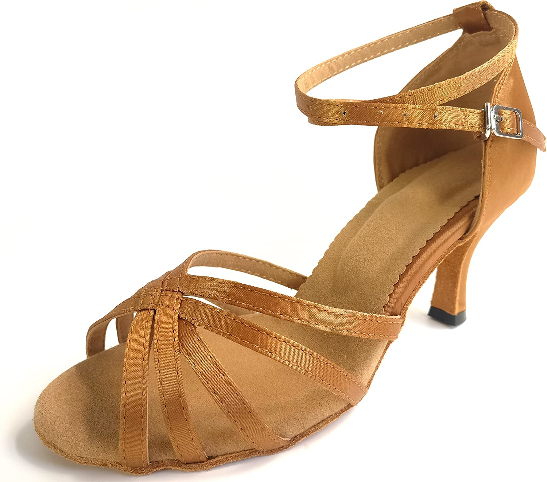 Boigoo Women's Latin Dance Shoes, Suitable for Ballroom, Performance, Party, Practice   Sala Shoes Tango Shoes Rumba Shoes Chacha Shoes