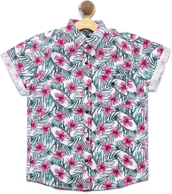 nick&jess - Kids Cotton Printed Half Sleeve Shirt for Boys (3-12 Years)