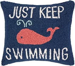 Peking Handicraft Keep Swimming Hook Pillow, 14 by 16-Inch