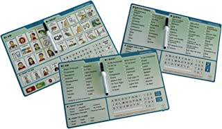 Communication Boards: Picture Board, English Word Board and Spanish Word Board Bundle