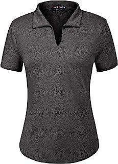 JACK SMITH Women's Short Sleeve Sports Moisture-Wicking Polo Shirt T-Shirt Tops