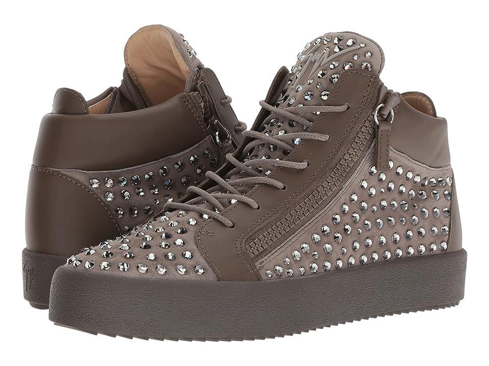Giuseppe Zanotti May London Mid Top Studded Sneaker (Khaki) Men