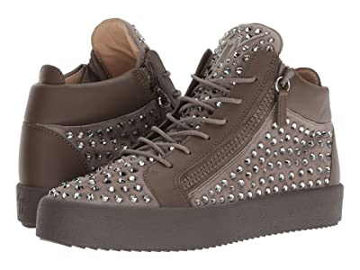 Giuseppe Zanotti May London Mid Top Studded Sneaker (Khaki) Men
