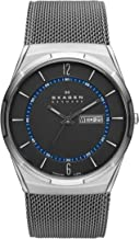 Skagen Men's Melbye Watch with Black Titanium Case and Stainless Steel Mesh