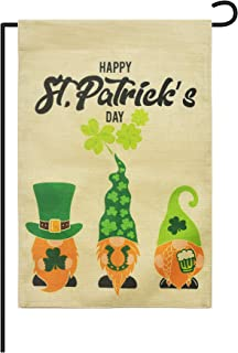 Cozysmart St. Patrick Garden Flags,12 Inch x18 Inch St. Patrick Flag,Garden House Flags,St. Patrick Yard Decorations Holid...