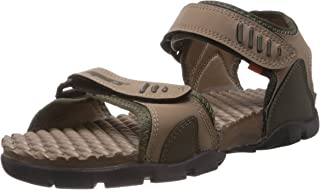 Sparx Men's Olive and Camel Brown Athletic & Outdoor Sandals - 8 UK (SS-103)