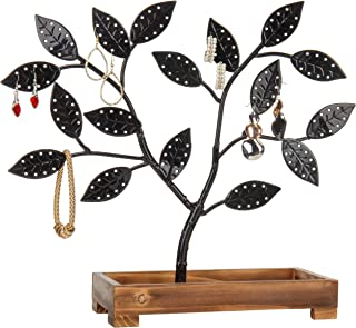 wooden earring tree stand