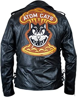 F&H Men's Genuine Leather Fallout 4 Atom Cats Double Rider Jacket
