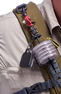 Plastic Fishing Tippet Spool Holder Fly Fishing Tippet Holder Carabiner Tackle 16.5cm