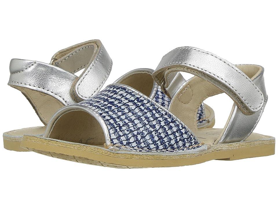 Old Soles Amalifi Sandal (Toddler/Little Kid) (Blue/Bianco/Silver) Girls Shoes